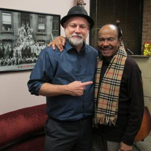 "At the AFM Local 257 office with saxophonist and composer Benny Golson, legendary writer of ""Killer Joe"" and many other great tunes."