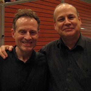 Hanging with John Paul Jones, Led Zeppelin's bassist/keyboardist/mandolinist  at the International Mandolin Festival in Lunel, France in 2008. A very cool guy and an excellent musician, who grew up in a musical family and is a great producer as well.