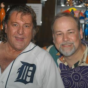 Motown Funk Brother Bob Babbitt and Dave hang out after the 2004 Basses Loaded concert, where he was a special guest with the All-Bass Orchestra. He played on so many classic records, like Rubber band Man, Signed Sealed Deliverd, and Mercy Mercy Me (The Ecology).R.I.P. Bob - you were an amazing player and a beautifulcat!