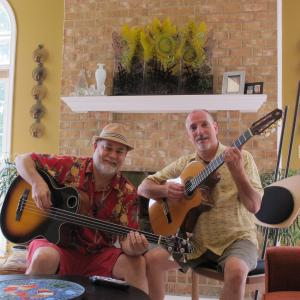 With one of my best friends, amazing guitarist Chuck Underwood, at his house in Silver Spring, MD.