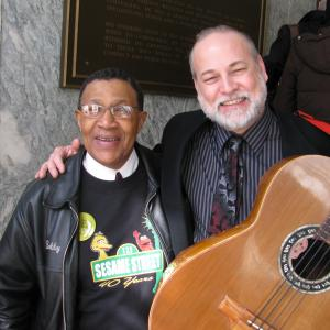 In Washington DC with Bob Cranshaw, great NYC bassist who has played with everyone from Sonny Rollins to Big Bird! (Bob played bass on Sesame Street for years...)